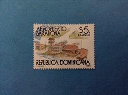 1995 REPUBBLICA DOMENICANA DOMINICANA FRANCOBOLLO USATO STAMP USED - Aeroporto Barahona 5 - Repubblica Domenicana