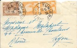 1808035 - TUNISIE - N° 34-70 SUR LETTRE DE TUNIS DE 1926 - Tunisia (1888-1955)