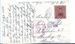 Ven080 / Venezuela, Karte, Ausgabe Von 1936, Hamburg 1939. Freigabe Durch   Zensur - Venezuela