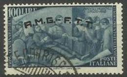 Trieste Zone A - 1948 Goffredo Mameli 100L FU  SG 76  Sc 29 - 7. Trieste