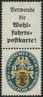 ZUSAMMENDRUCKE S 60 *, 1928, Nothilfe A1.1 + 8, Falzrest, Pracht, Mi. 540.- - Zusammendrucke