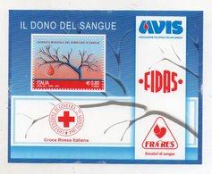 """ITALIA - 2015 - Foglietto """" Il Dono Del Sangue - Giornata Mondiale Del Donatore """"- Nuovo - (FDC11019) - Blocks & Sheetlets"""