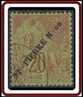 Saint-Pierre Et Miquelon 1859-1909 - N° 24 (YT) N° 24 (AM) Oblitéré. - St.Pierre Et Miquelon