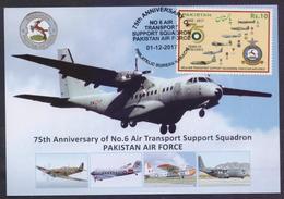 PAKISTAN MAXIMUM CARD - Air Transport Support Squadron Pakistan Air Force, 2017 - Airships
