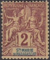 Sainte-Marie De Madagascar - N° 2 (YT) N° 2 (AM) Neuf *. - Unused Stamps