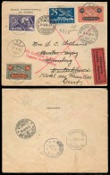 Switzerland - XX. 1928 (29 May). Onex - Germany. Special Flight Fkd Env. Zurich - Geneve. Furth - Nurnberg Special Red C - Unclassified