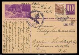 Switzerland - XX. 1940 (25 Nov). Zurich - Germany. 10c Violet View Stat Card + Adtl. Nazi Censored. VF Cond. - Switzerland