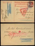 Switzerland - XX. 1916 (19 Sept). Geneve - Serbia. Exiled General Gov. 10c Stat Card. Via Austria. - Switzerland