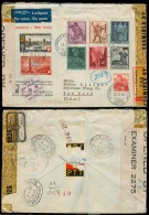 Switzerland - XX. 1942 (13 Oct). Bern - USA. Via Bermuda. Reg Multifkd Air Multicensored + US Post Sealed + US Customs.  - Switzerland