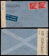 Switzerland - XX. 1941 (18 July). Trancelan - Argentina. Air Fkd + Caribbean Censored Env + Label + Aux Pmk. VF. - Unclassified
