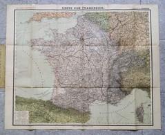 General-Karte Von Frankreich / H. Handtke. - 16e éd. - Glogau : Carl Flemming, S.d. [ca.1880] - Wereldkaarten