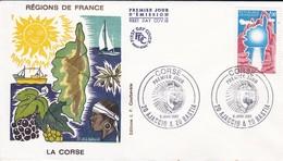 20 AJACCIO & 20 BASTIA--Premier Jour 3 Janv. 1982--La CORSE  Régions De France--voir 2 Scans - FDC