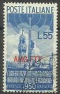 Trieste Zone A - 1950 Radio Conference 55L Used   SG 162  Sc 78 - 7. Trieste