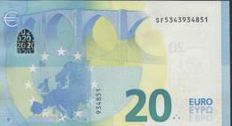"EURO 20  ITALIA SF S017  ""34""  DRAGHI  UNC - EURO"