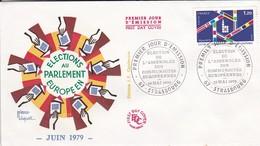 67  STRASBOURG----Premier Jour 19 Mai 1979--juin 1979--elections Au Parlement Européen--voir 2 Scans - FDC