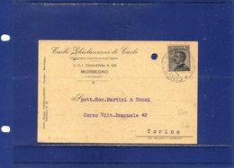 ##(ANT2)-MORBEGNO (SONDRIO) 1928-Cartolina Commerciale Intestata Carlo Ghislanzoni Di Carlo-negozio Dal 1883-viaggiata - Italy