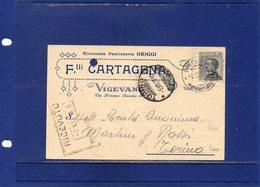 ##(ANT2)-VIGEVANO (PAVIA) 1929-Cartolina Commerciale Intestata Flli Cartagena-Rinomata Pasticceria Origgi-VINO-viaggiata - Italia