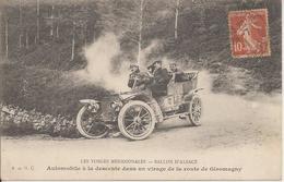GIROMAGNY (Territoire-de-Belfort) - BALLON D'ALSACE - AUTOMOBILE à La DESCENTE Dans Un VIRAGE - Voyagée - Giromagny
