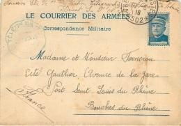 LE COURRIER DES ARMEES FRANCHISE MILITAIRE 1916 ECRITE PAR FORNERON ELIE 16em SECTION MILITAIRE ARMEE D'ORIENT - Poststempel (Briefe)
