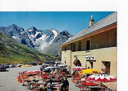 1 CPM Col Du Lautaret : Café De La Ferme.:  Terrasse Ensoleillée Avec Parasols - France