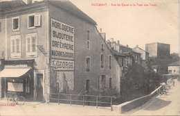 BACCARAT~RUE De CANAL Et La TOUR Des VOUES PHOTO POSTCARD 33246 UNITED STATES SOLDIER 1918 WW1 MESSAGE ON REVERSE - Baccarat