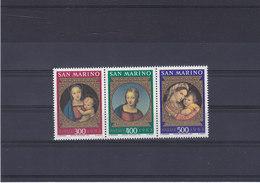 SAINT MARIN 1983 PEINTURES DE RAPHAËL NOËL Yvert 1084-1086 NEUF** MNH - Saint-Marin