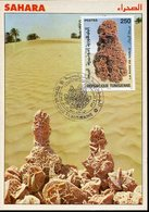 36480 Tunisie, Maximum 1997, Sahara, La Rose De Sable Du Desert, Desert Rose, Mineral, Geology - Minerals