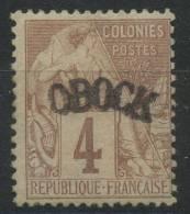 Obock (1892) N 3 * (charniere) - Unused Stamps