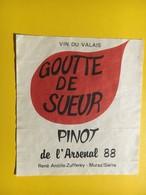 8708 - Goutte De Sueur Pinot De L'Arsenal 1988 Suisse - Militaire