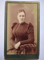 RUSSIE - Belle Photographie CDV  - Portrait D'une Femme Russe - SIMBIRSK ( Oulianovsk) - 1888  TBE SUPERBE - Voir Photos - Photographs