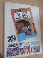 CLI518 :  Page PUB A4 Spirou Années 60/70 Avec Nouvel Album Paru De La Série JOHAN ET PIRLOUIT - Johan Et Pirlouit