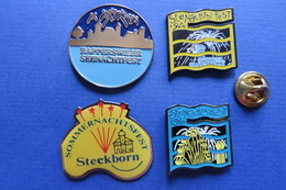 Lot De 4 Pin's, Feu D'artifice,grande Roue,SeenachtFest Rapperswil,Steckborn,Riesenrad,Feuerwerk - Other