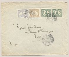 Nederlands Indië - 1930 - Kleurrijke Cijfer Frankering Van LB LIMAPOELOEH Naar Paris / France - Indes Néerlandaises