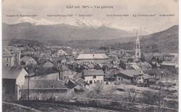 Hautes Alpes - GAP -  Vue Générale - 1914 - Cachet 157e Régiment D'Infanterie - Gap