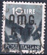 TRIESTE, ZONA A, ITALIA, ITALY, SERIE DEMOCRATICA, 1947, FRANCOBOLLI USATI Michel 10   Scott 9 - 7. Triest