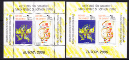 Europa Cept 2006 Northern Cyprus M/s Perforated + Imperforated  ** Mnh (39863) - 2006