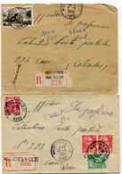 GARD De MOLIERES SUR CEZE  2 Env. Recom. De  1950  1951  Avec Dateur   A 6 - 1921-1960: Période Moderne