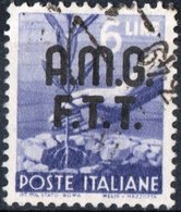 TRIESTE, ZONA A, ITALIA, ITALY, SERIE DEMOCRATICA, 1947, FRANCOBOLLI USATI Michel 8   Scott 8 - 7. Triest