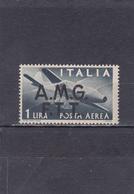 Trieste Neuf **  1947  Poste Aérienne N° 1   Timbre Aérien D'Italie Surchargé - Trento & Trieste
