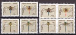 Ei_ Deutschland Bund - Mi.Nr. 1545 - 1552 - Postfrisch MNH - Tiere Animals Libellen Dragonfly - BRD