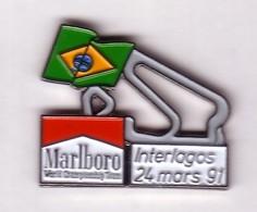VP93 Pin's F1 GRAND PRIX BRESIL INTERLAGOS  MARLBORO Tabac Achat Immediat - F1