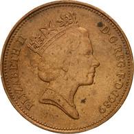 Monnaie, Grande-Bretagne, Elizabeth II, 2 Pence, 1989, TB, Bronze, KM:936 - 1971-… : Monnaies Décimales