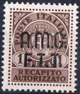 TRIESTE, ZONA A, ITALIA, ITALY, RECAPITO AUTORIZZATO,1947, FRANCOBOLLI NUOVI (MNH**) Michel GA1    Scott EY1 - Nuovi