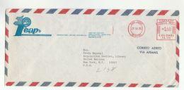 1976 ICAP CHILE To UN NY USA COVER Instituto Centroamericano De Administracion Publica To United Nations METER - Chile