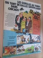 CLI518 :  Page PUB A4 Spirou Années 60/70 Sortie D'un Nouvel Album SAMMY HATTAWAY LES GORILLES - Sammy