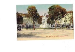 Cpa - 06 - NICE - La Place Garibaldi - Poste Télégraphe Téléphone Tramway Publicité MANDARINETTE London Bar - Squares