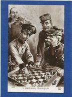 CPA échecs Playing Chess Satirique Caricature Militaria WWI écrite Anti Kaiser Germany - Chess