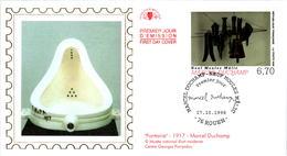 LETTRE GRAND FORMAT (1ER JOUR) - FDC - MARCEL DUCHAMP - 17 OCTOBRE 1998 A ROUEN - CÔTE : 5 EUROS - FDC