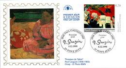 LETTRE GRAND FORMAT (1ER JOUR) - FDC - PAUL GAUGUIN - 5 DECEMBRE 1998 A PONT-AVEN - CÔTE : 7 EUROS - FDC