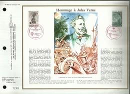 CEF N° : 660 . TIMBRES CROIX - ROUGE FRANCAISE .  HOMMAGE A JULES VERNE . 20 NOVEMBRE 1982 . NANTES . - FDC